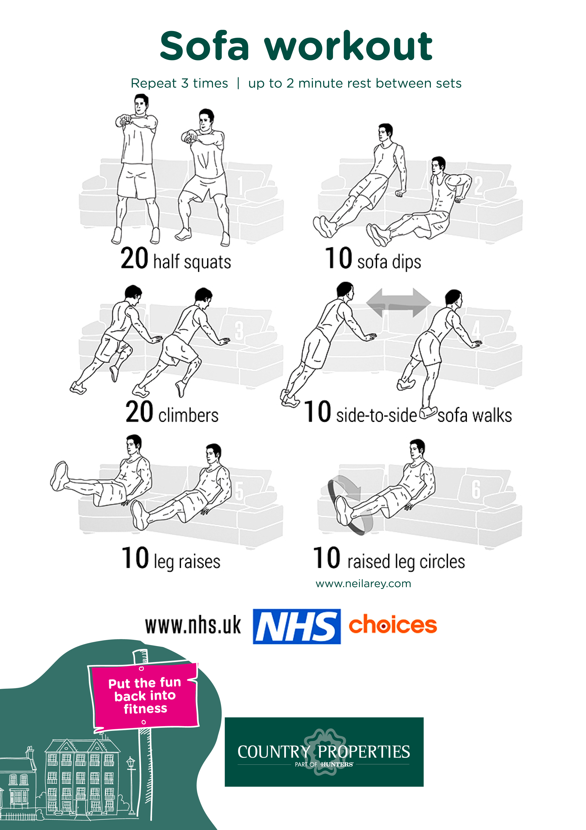Country Properties Activity Zone - Exercise with sofa