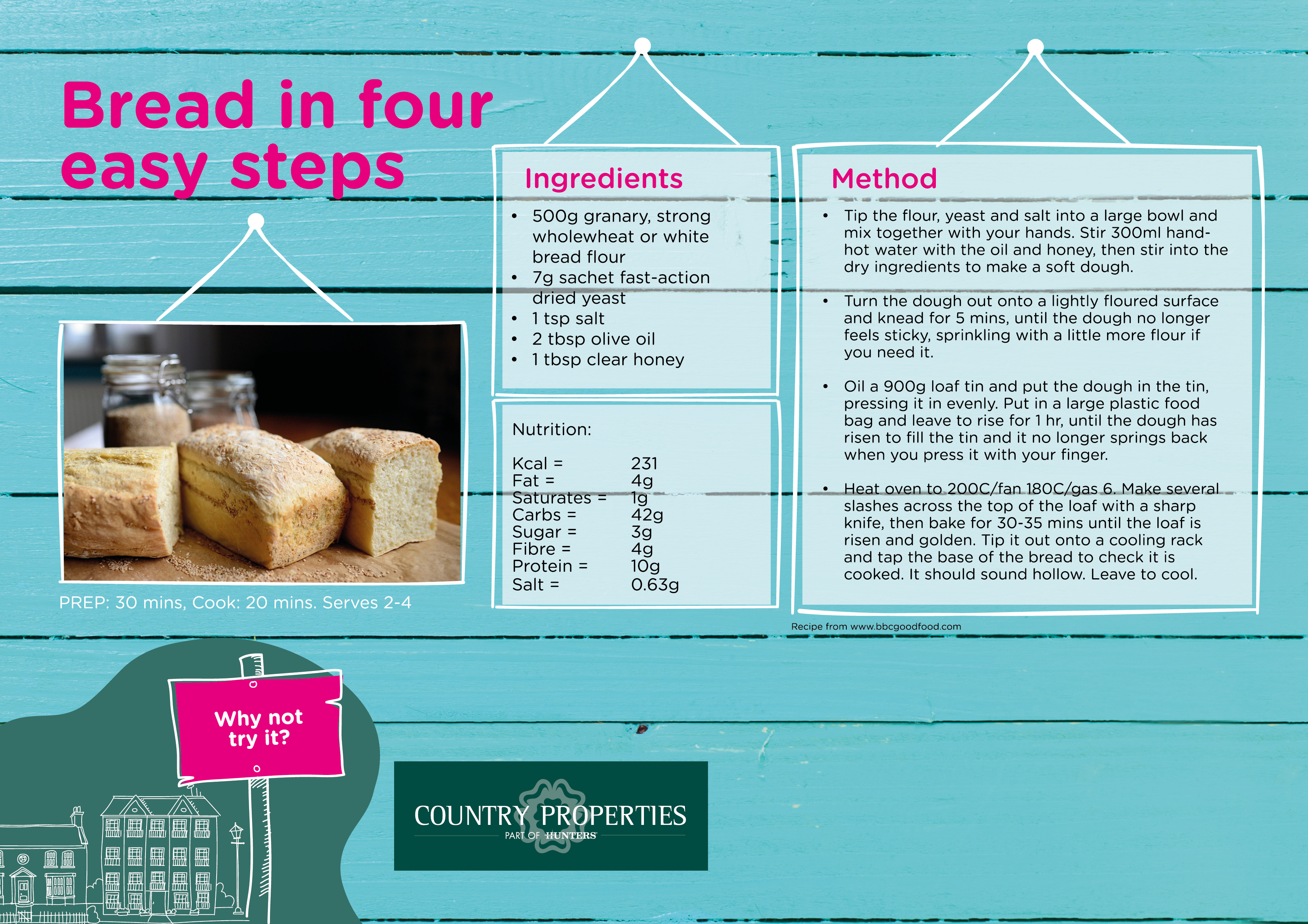 Country Properties Activity Zone - bread in four easy steps